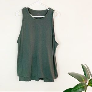 Athleta | double layer green racerback tank M